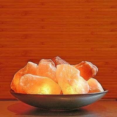 Лампа - Паница с 10 въглена от Хималайска сол