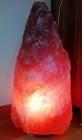 Голяма лампа от Хималайска сол на дървена основа- необработена форма