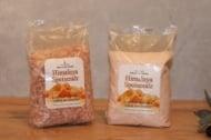 Bag of Himalayan salt -fine crystals and ground salt