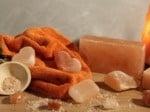 Кристал за масаж от Хималайска сол- обработена овална форма